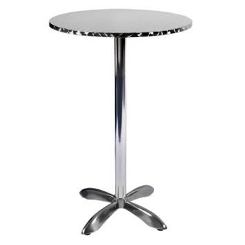 Stainless Steel Table with Bar Height Base
