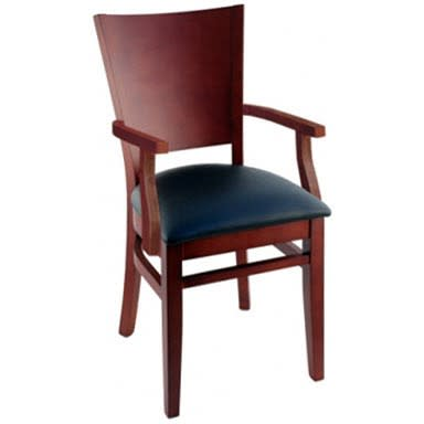 Premium US Made Tiffany Wood Chair With Arms