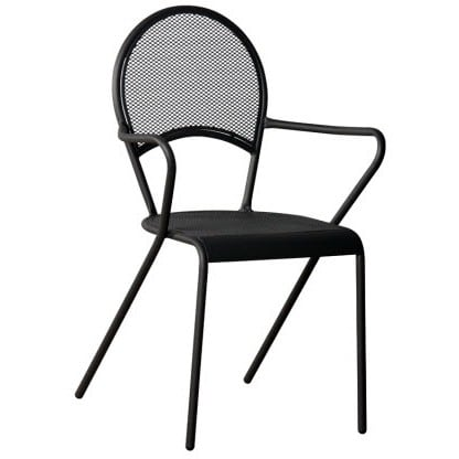Netted Back and Seat Outdoor Chair