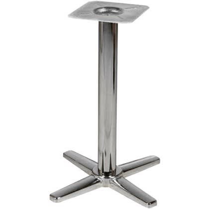"X Prong Chrome Table Bases – 30"" Table Height"