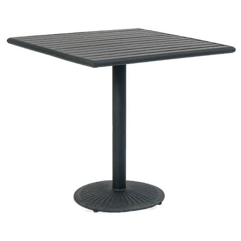 Black Finish Plastic Teak Top with Table Base