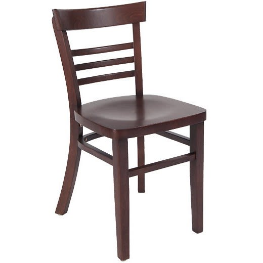 Beechwood Ladder Back Chair with Extended Edges