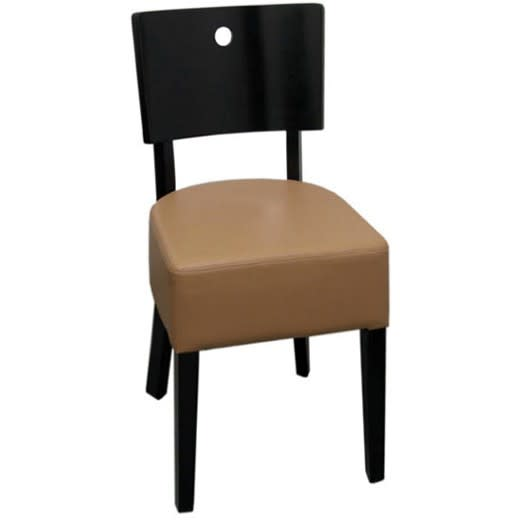 Designer Curved Back Wood Chair