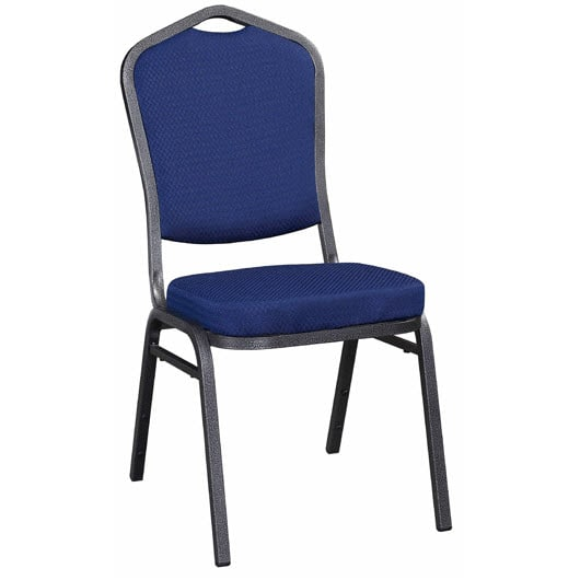 Metal Stack Chair - Silver Vein Frame Finish with Blue 2024 Fabric