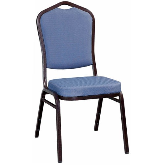 Metal Stack Chair - Copper Vein Frame with Blue 2011 Fabric