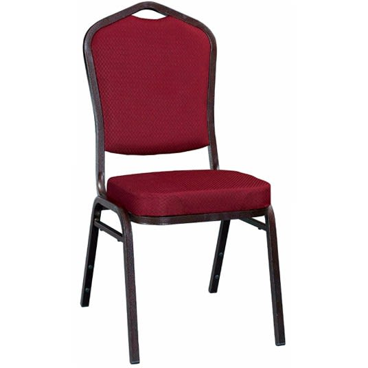 Metal Stack Chair - Copper Vein Frame with Dark Red Fabric