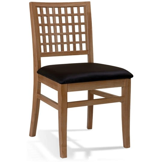 Designers Lattice Back Wood Chair