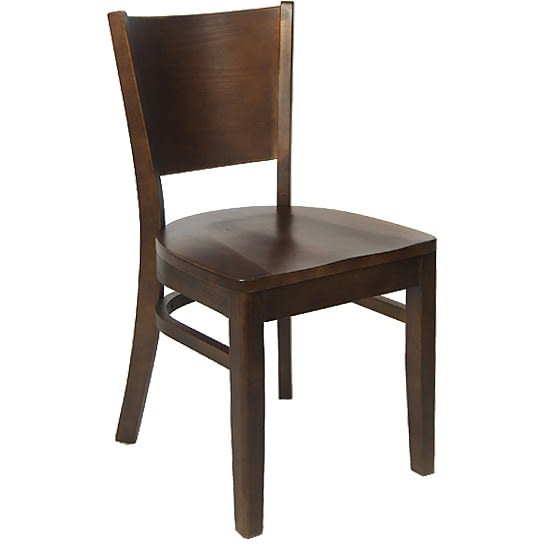 Beechwood Curved Plain Back Chair
