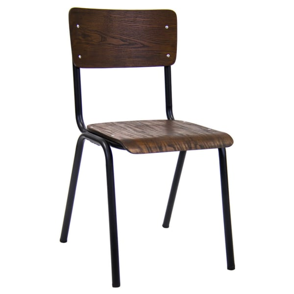 French industrial metal chair
