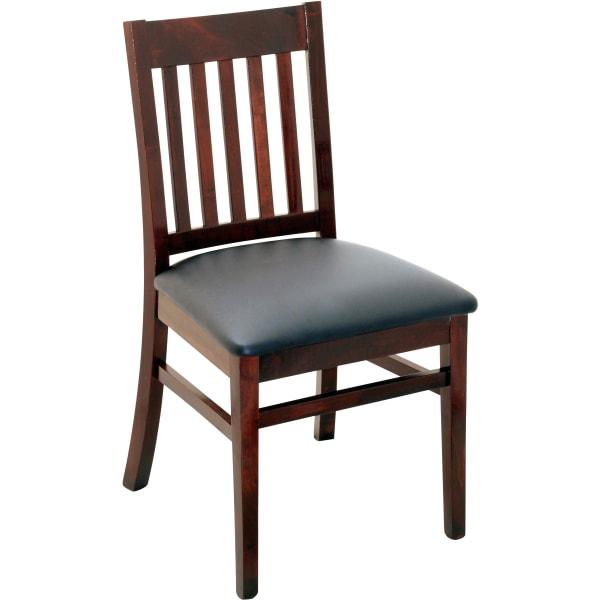 Designer Series Logan Vertical Slat Back Restaurant Chair