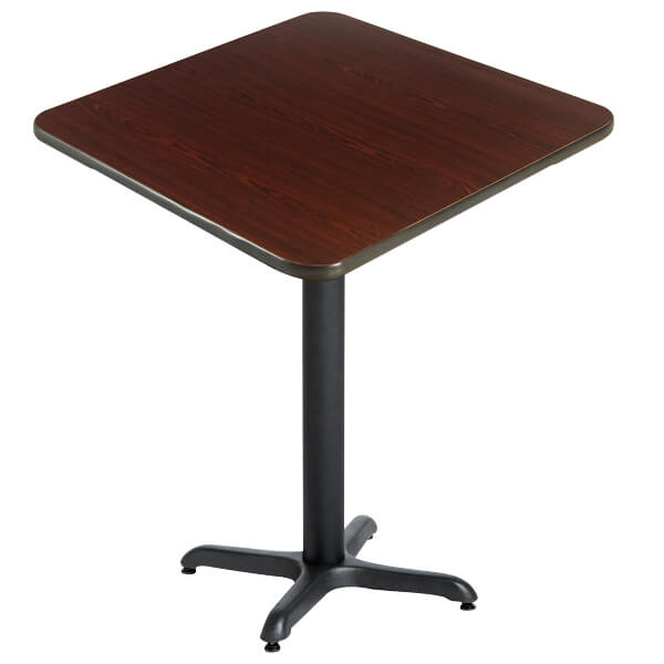 Laminate Reversible Restaurant Bar Height Table In Black / Mahogany