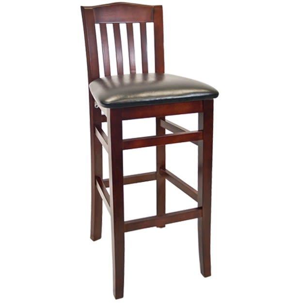 Beechwood Vertical Slat Restaurant Bar Stool