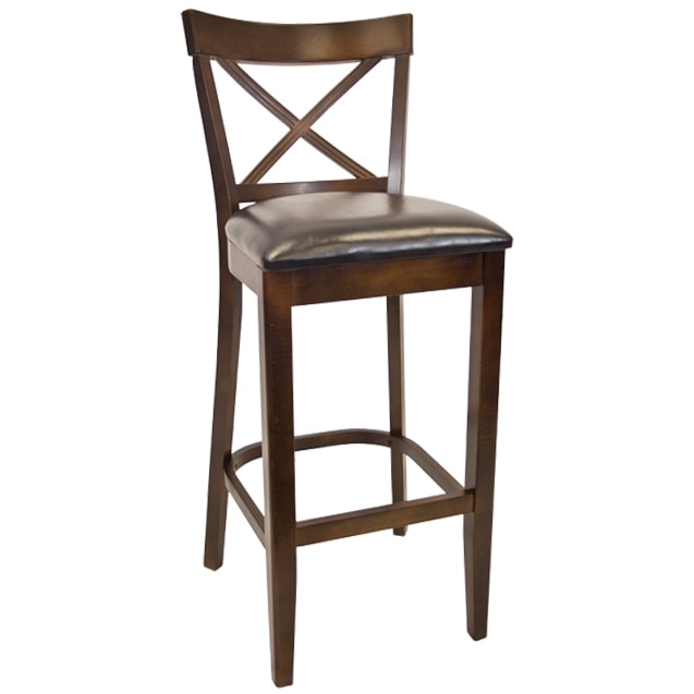 Beechwood X Back Restaurant Bar Stool