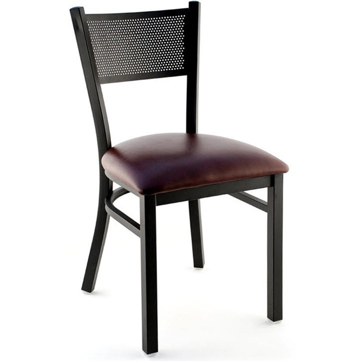 Checker Back Metal Chair