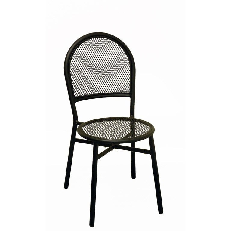 Paola Metal Patio Chair in Black Finish