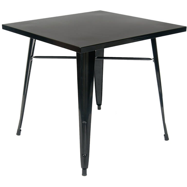 Metal Table in Black Finish - Table Height