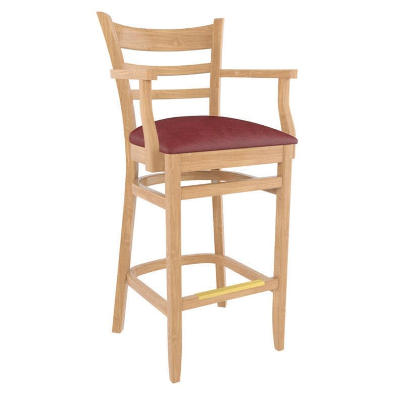 Premium US Made Ladder Back Restaurant Bar Stool With Arms