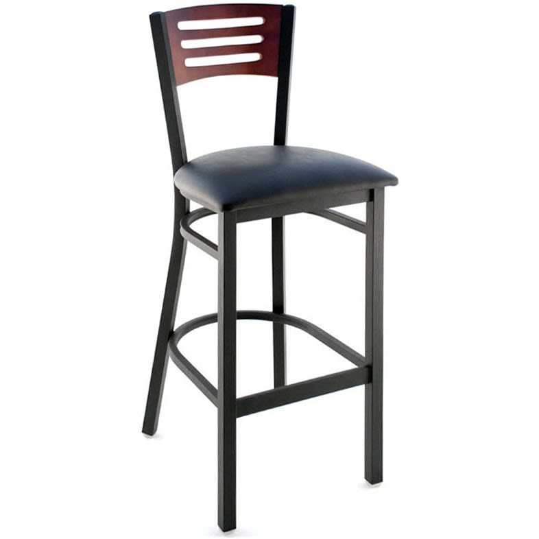 Interchangeable Back Metal Bar Stool with 3 Slats