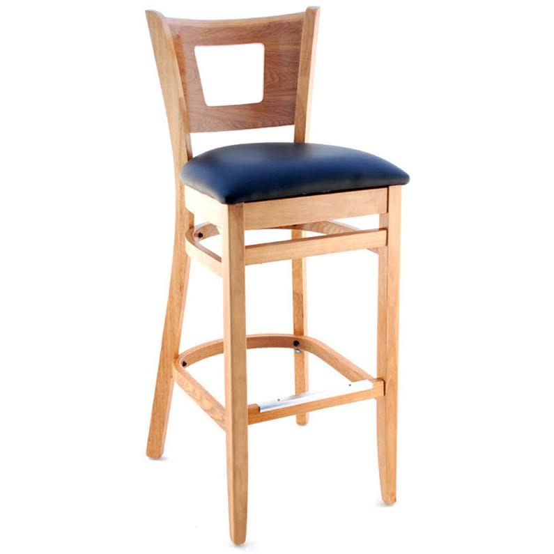 Premium US Made Duna Wood Restaurant Bar Stool with Premium US Made Duna Wood Restaurant Bar Stool
