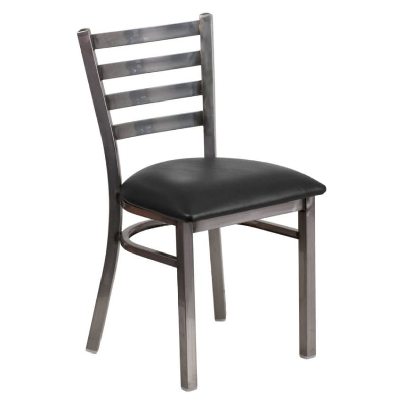Metal Ladder Back Chair in Clear Coat