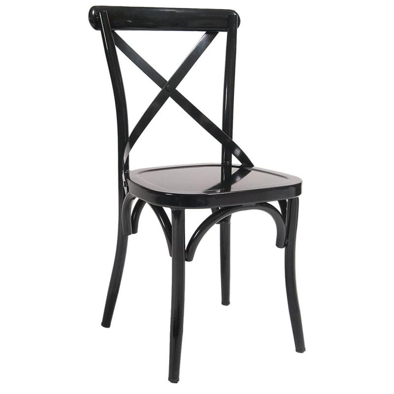 Classic X Back Metal Chair