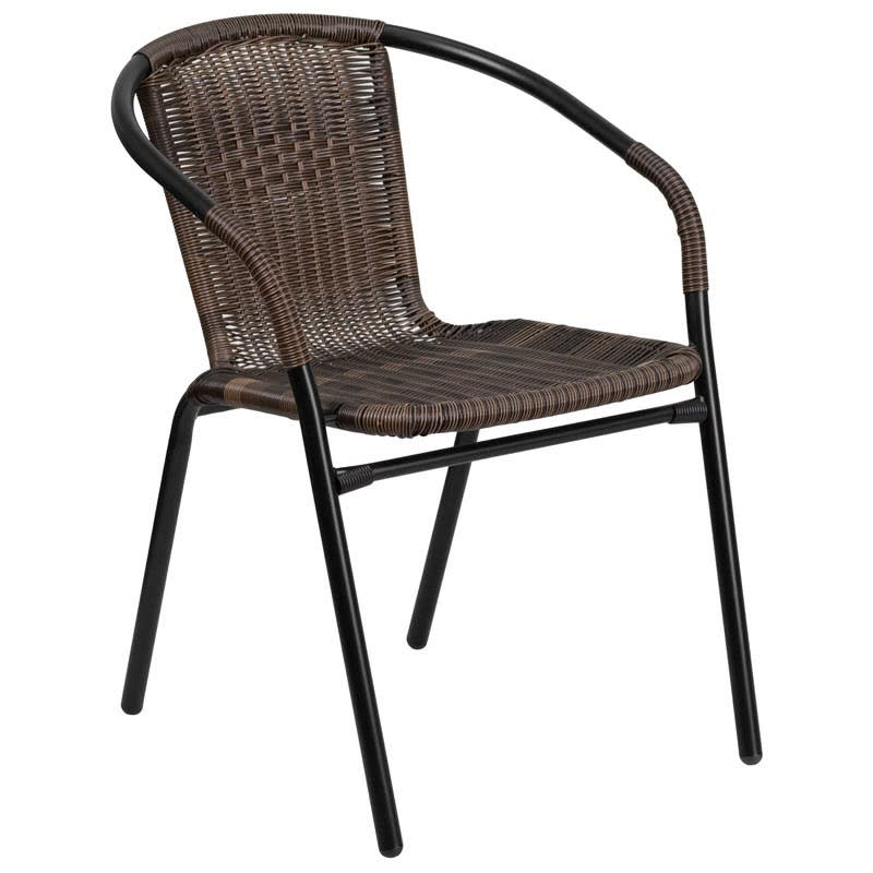 Dark Brown Indoor-Outdoor Rattan Chair