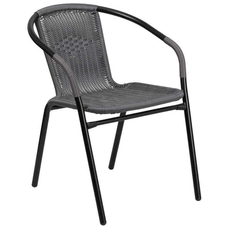 Grey Indoor Outdoor Rattan Chair