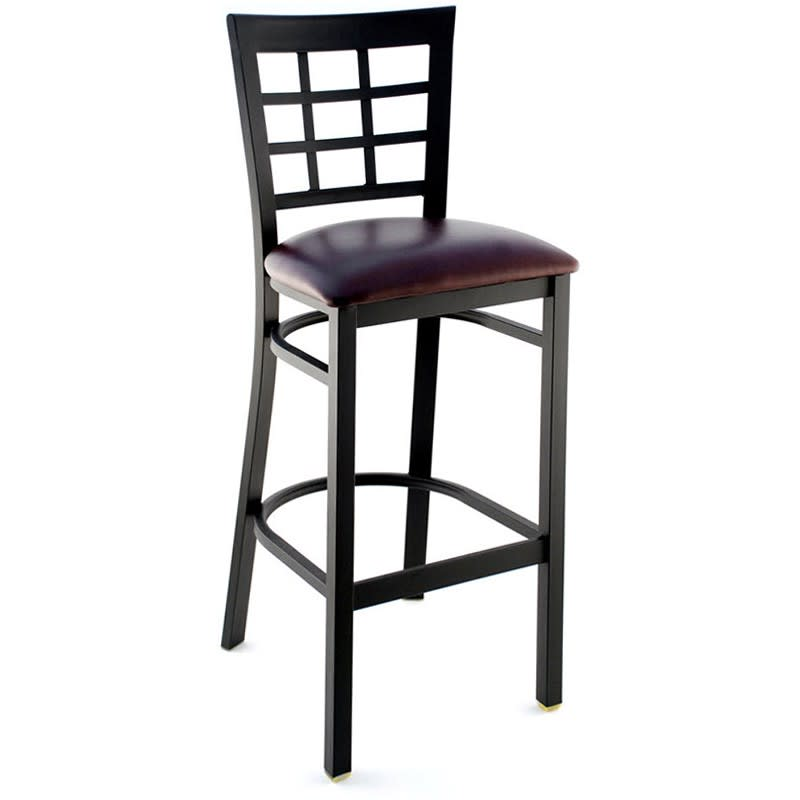Window Back Metal Bar Stool