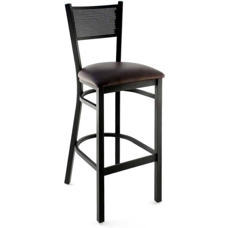 Checker Back Metal Bar Stool