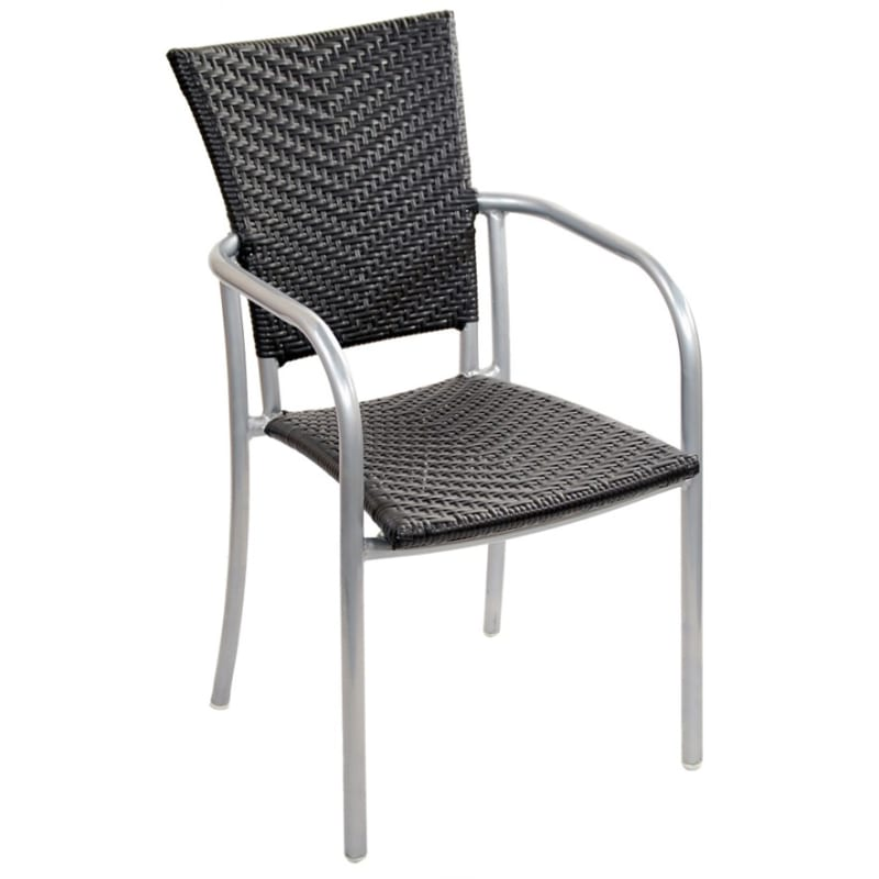 Aluminum Patio Chair in Silver Frame Finish