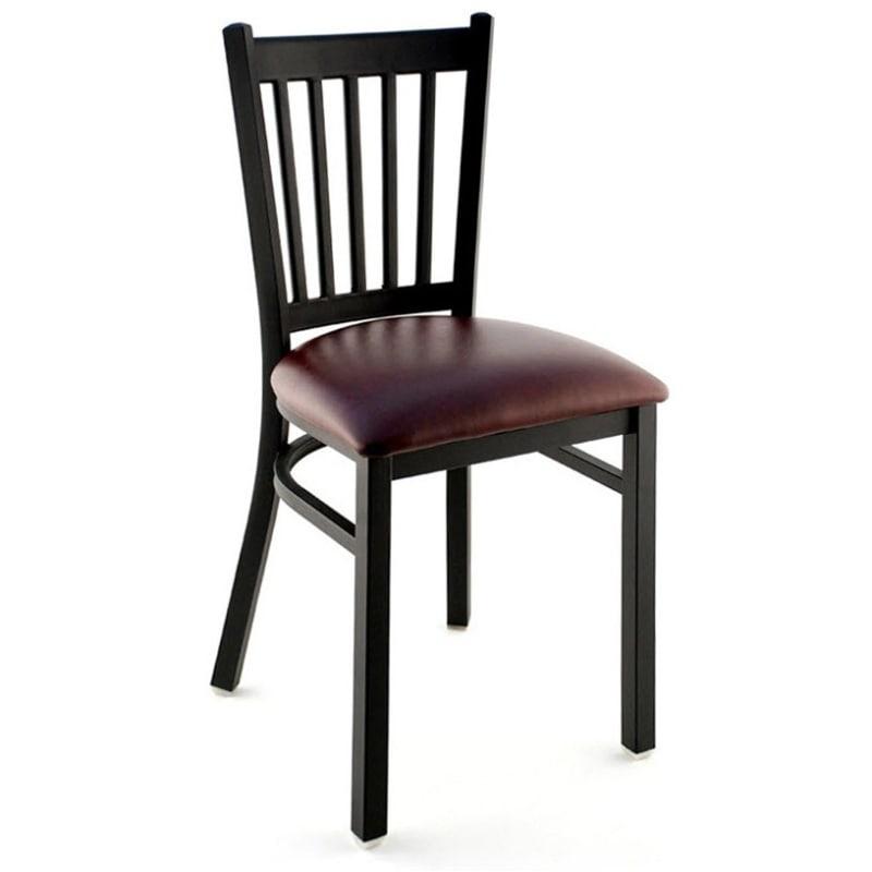 Metal Vertical Slat Chair