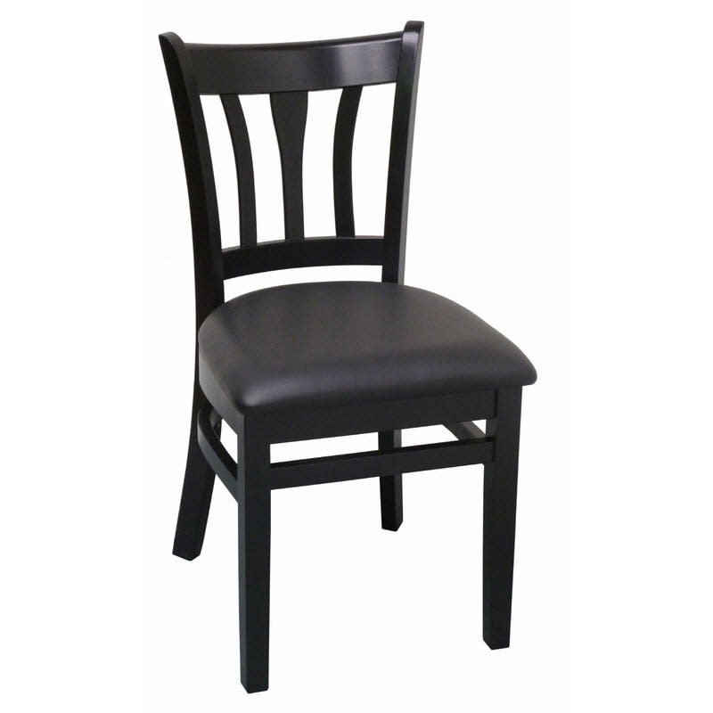 Modern Vertical Slat Wood Chair