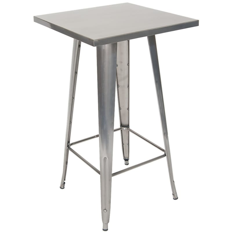 Metal Table in Clear  Finish - Bar Height