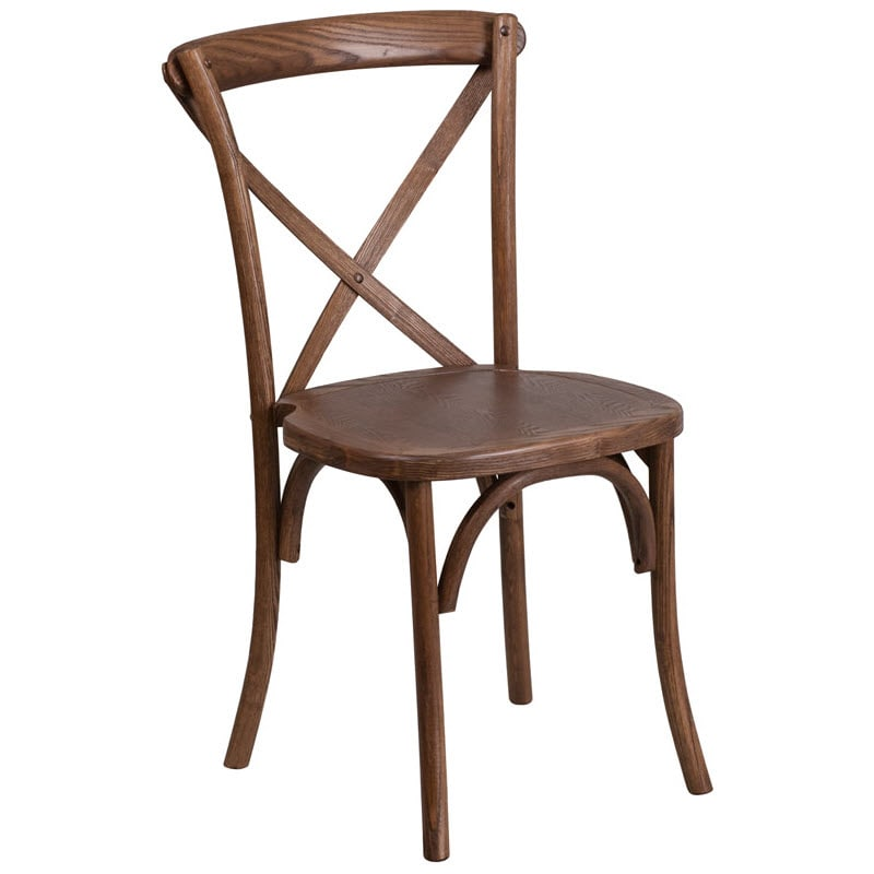 Stackable X Back Wood Chair