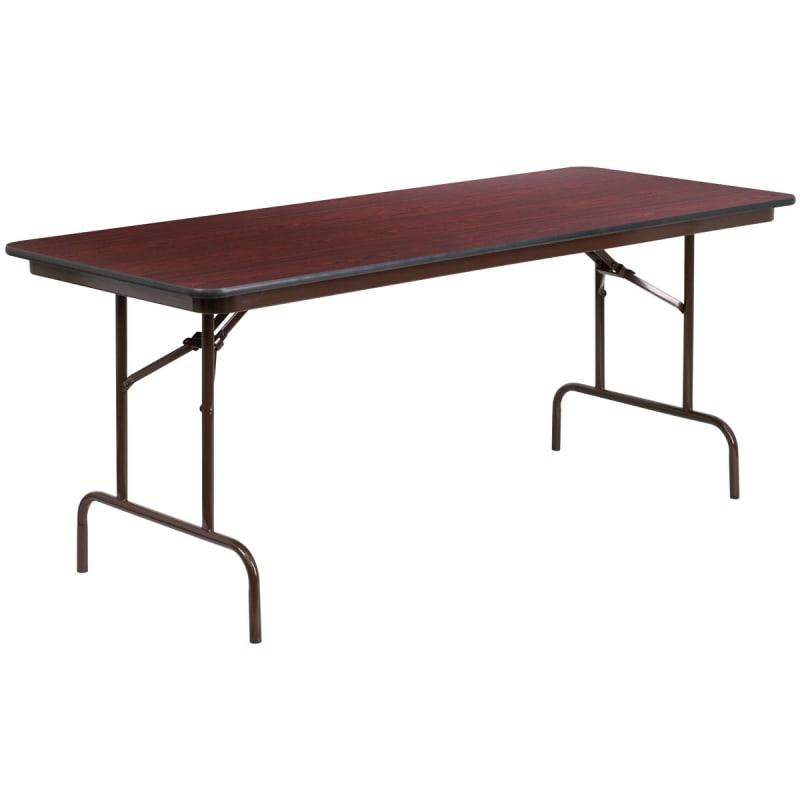 Mahogany Laminate Folding Banquet Table