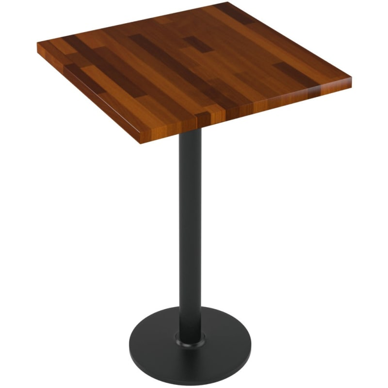 Premium Solid Wood Butcher Block Restaurant Table - Bar Height