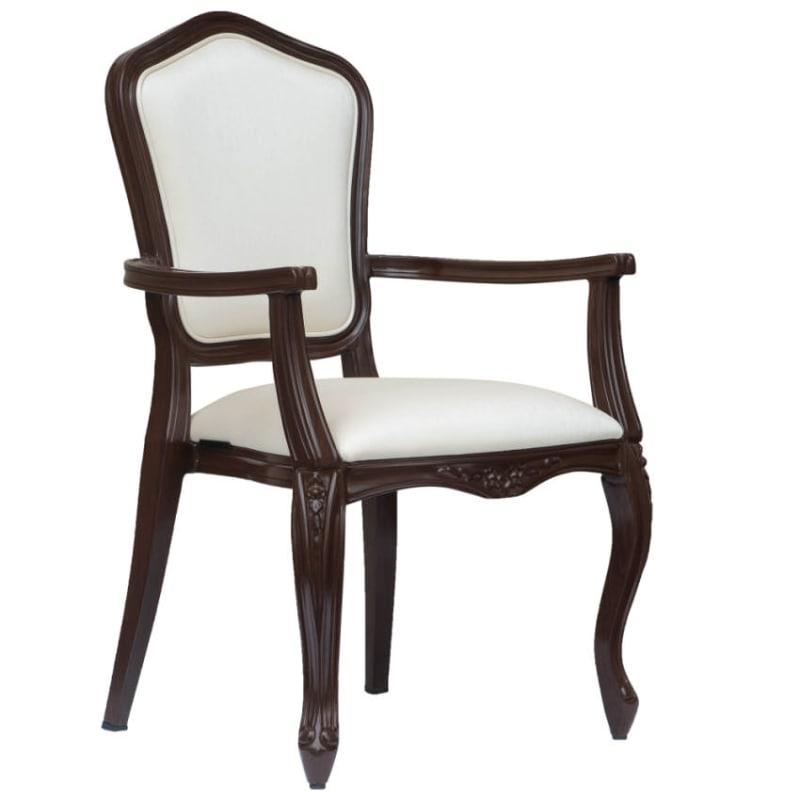 Tiffany Padded Aluminum Arm Chair