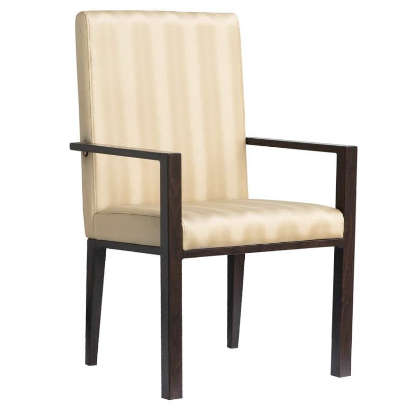 Celestino Padded Aluminum Arm Chair