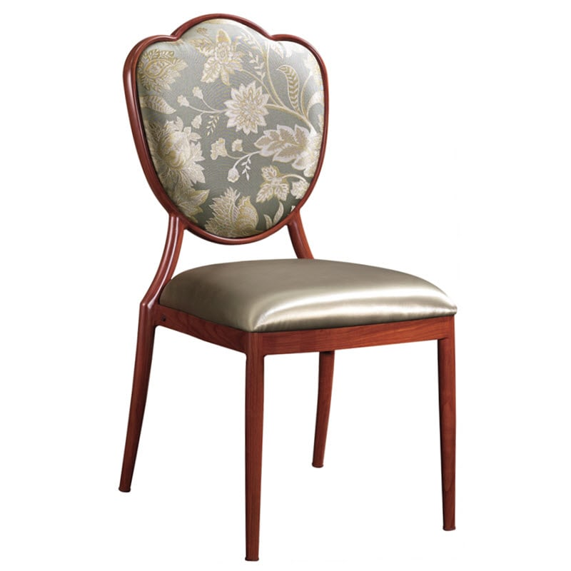 Tulip Upholstered Aluminum Dining Chair