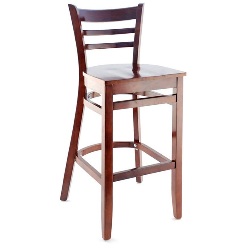 Premium US Made Ladder Back Bar Stool with Premium US Made Ladder Back Bar Stool