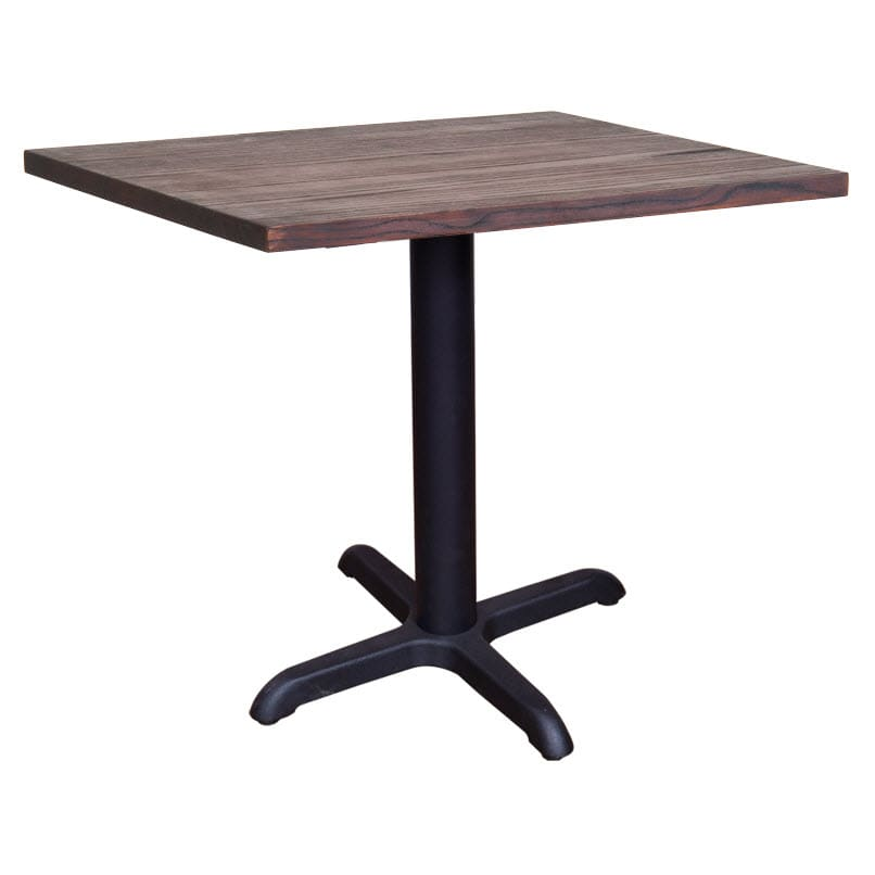"Industrial Series Restaurant Table with Black X Prong Base - 30"" Ht"