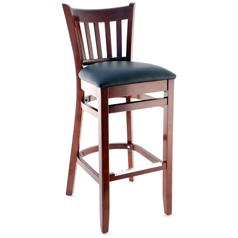 Premium US Made Vertical Slat Wood Restaurant Bar Stool