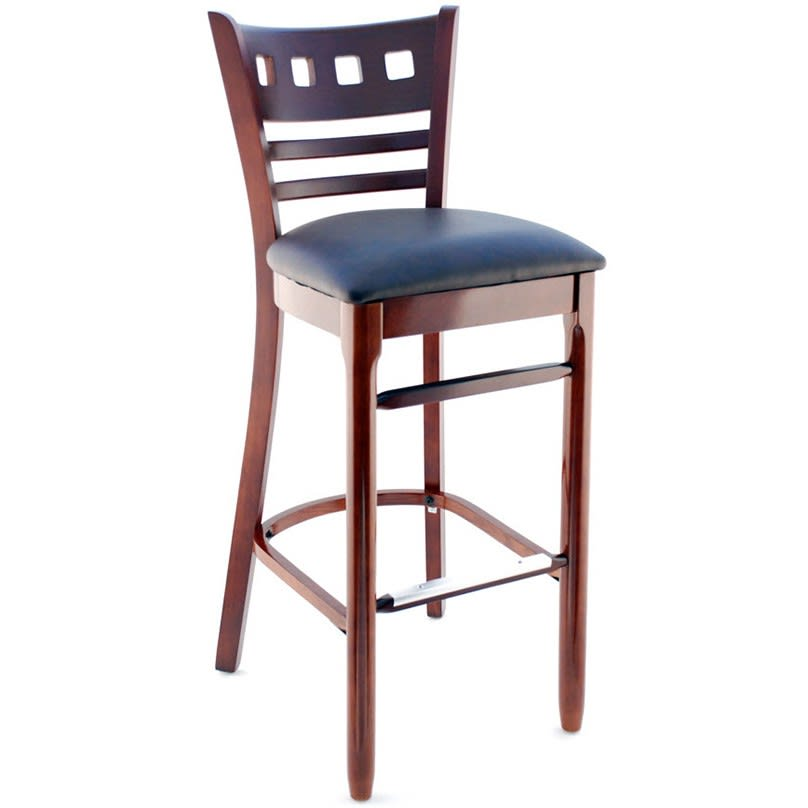 Premium US Made American Back Wood Restaurant Bar Stool