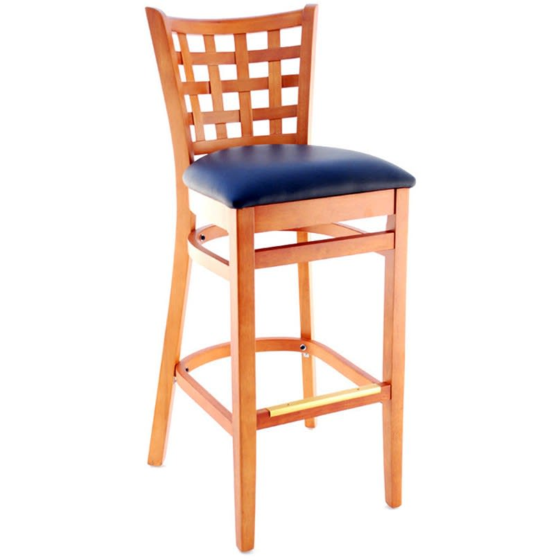 Premium US Made Lattice Back Wood Bar Stool