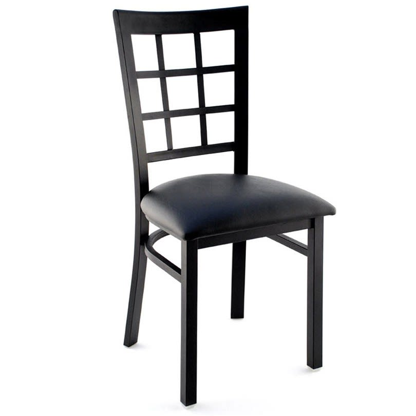 Window Back Metal Chair