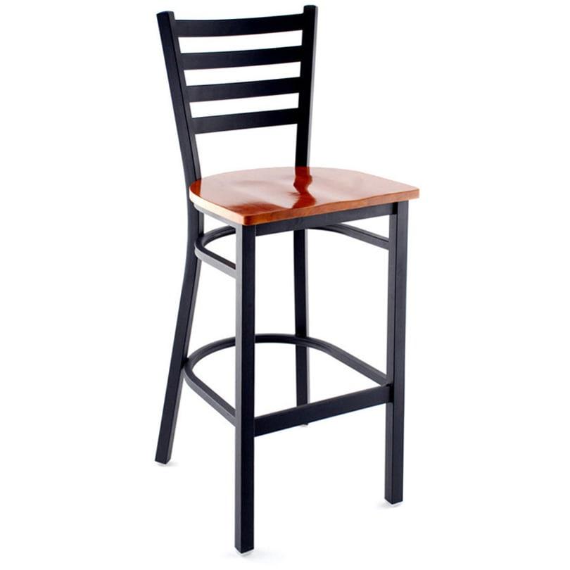 Sensational Ladder Back Metal Bar Stool Beatyapartments Chair Design Images Beatyapartmentscom