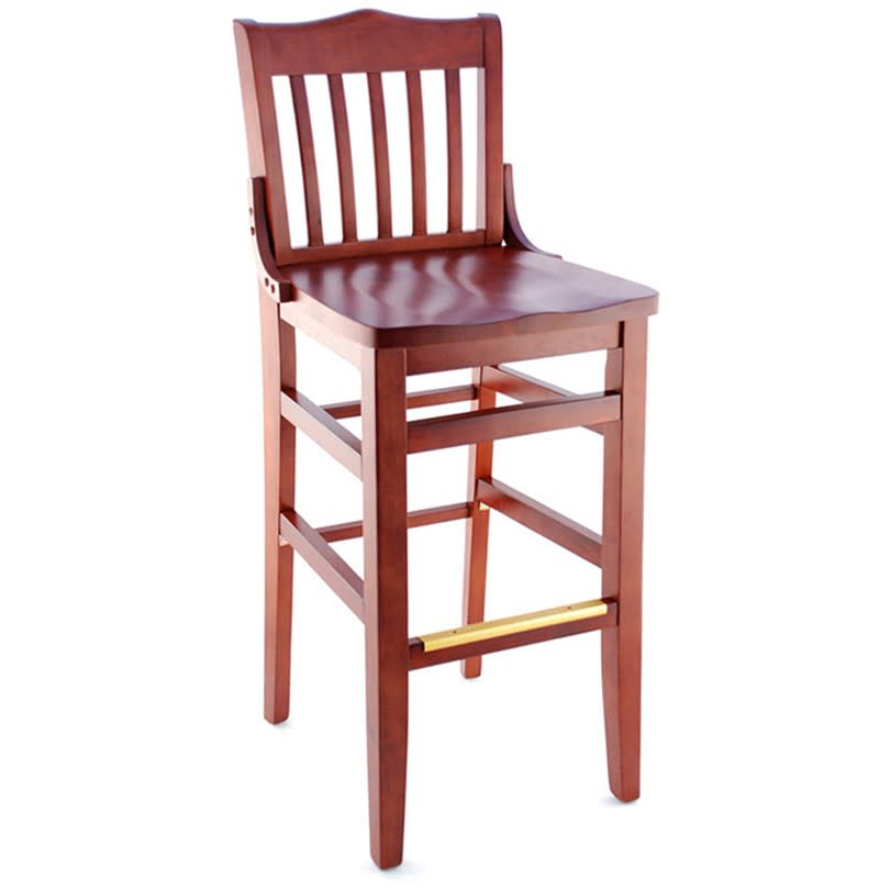 Premium US Made School House Wood Restaurant Bar Stool