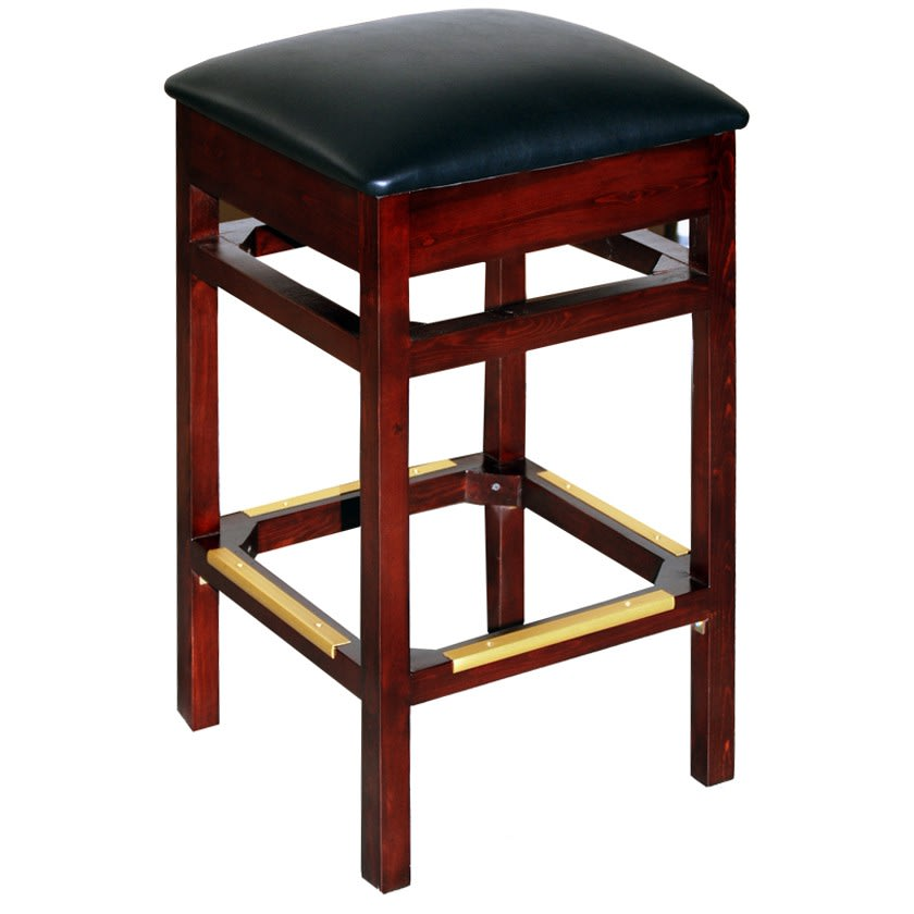 Backless Wood Bar Stool