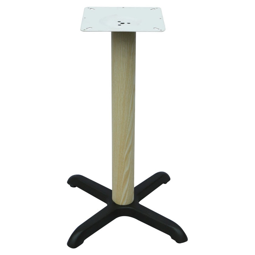 "Premium Wood Look X Prong Table Base - 30"" Table Ht"