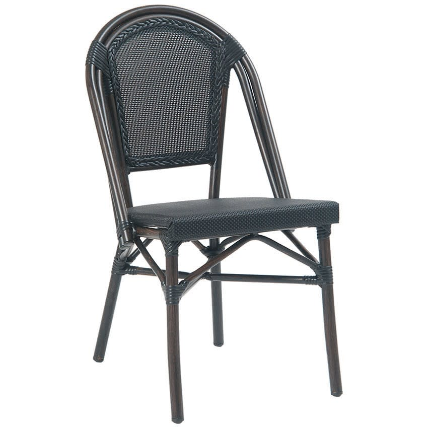Peachy Aluminum Bamboo Patio Chair With Black Rattan Machost Co Dining Chair Design Ideas Machostcouk
